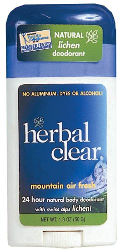 Herbal Stick - Herbal Clear Mountain Air Fresh Deodorant Stick, Swiss Alps Lichen, 1.8 Ounce (Pack of 3)