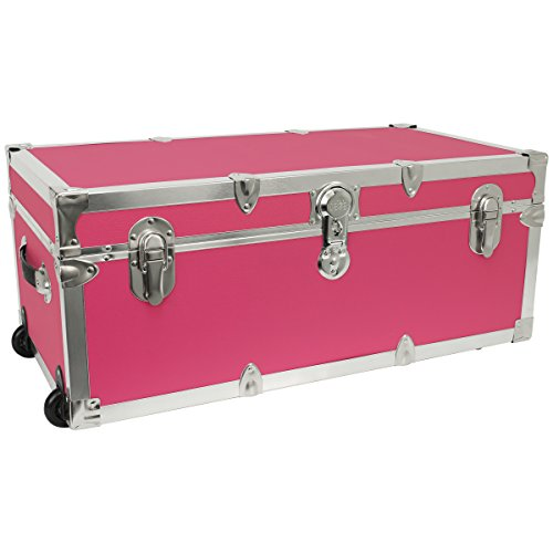 Seward Trunk Footlocker Trunk with Nickel Trim, Pink, 30-Inch (SWD7130-22) by Seward Trunk