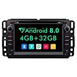 Double Din Car Stereo,7 Inch Eonon in Dash Android 8.0 Car Radio,4GB +32GB Octa-Core Car Android Head Unit Applicable to Chevrolet GMC Silverado Express Avalanche Acadia Impal Support WiFi -GA9180A
