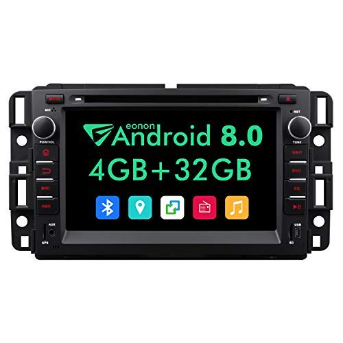 Eonon 2019 Double Din Car Stereo,7 Inch in Dash Android 8.0 Car Radio,4GB +32GB Octa-Core Car Android Head Unit Applicable to Chevrolet GMC Silverado Express Avalanche Acadia Impal-GA9180A (Best Head Unit 2019)