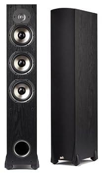 Polk Audio Monitor 65T Three-Way Ported Floorstanding Speaker (Single, Black) Speakers at amazon
