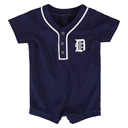 Outerstuff MLB Newborn Infants Cool Base Home Alternate Romper Jersey (24 Months, Detroit Tigers Alternate Navy) ()