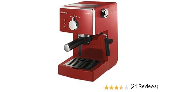 Philips Saeco Philips HD8323/12 Cafetera Saeco Poemia Espresso Manual roja 950W, 950 W, 1.25 litros, ABS sintéticos, rojo