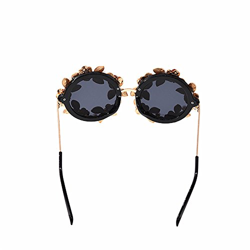 Lujo Moda Sol Color Gafas barrocas Retro UV Metal Sol Mujeres Flor Oro Mano protección polarizadas y de de Hecha de a Las Gafas de Perla para conducción Hojas Godbb Ojos de Tonos de Proteccion qEfwBX