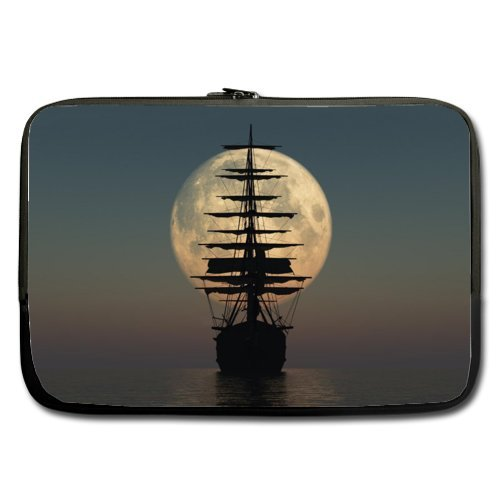[Cool Pirate Ship Best Price 17 Inch Laptop / Notebook Computer/ Water Resistant Neoprene Laptop Sleeve (Double-sided,No] (Pirate Cost)