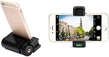 EACHSHOT - Soporte de Agarre para Smartphone con Correa de muñeca, Adaptador de trípode y Zapato frío para luz LED de vídeo y micrófono, para iPhone, LG, Samsung, HTC, Huawei, Google, Android: