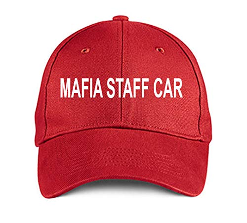 Mafia Staff CAR Red Embroidered Hat Adjustable Structured Baseball Caps]()