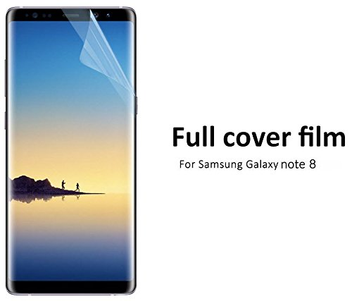 Screen Protector for Samsung Galaxy Note 8 - 2 (TWO) Pack - Complete 3D Coverage - Soft TPU Silicone - Invisible Protection