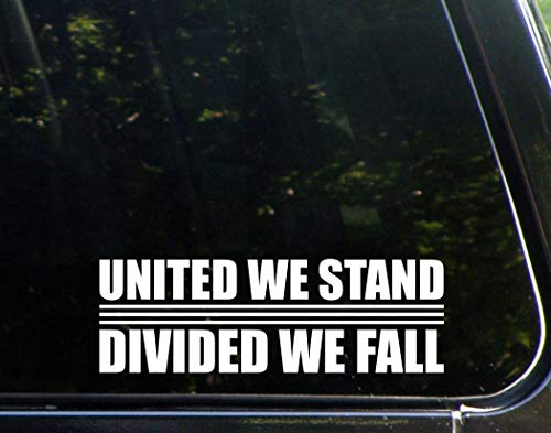 Cut Die Decal United (United We Stand Divided We Fall - 8-3/4