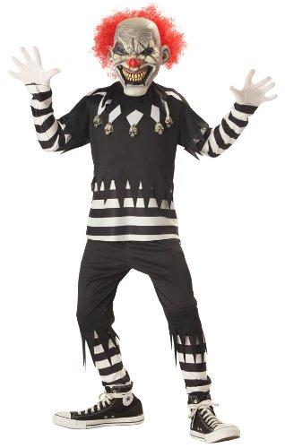 [Creepy Clown Costume - Large] (Evil Clown Costume Girl)