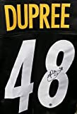 Bud Dupree Autographed Pittsburgh Steelers Black Custom Jersey with #SNU Inscription