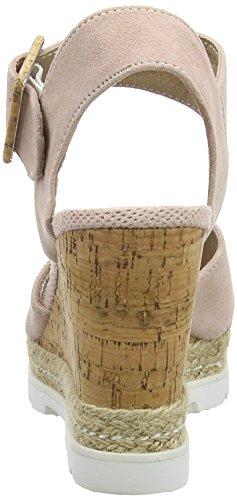 SPMLamborghini Sandal - sandalias de tacón con cierre al tobillo Mujer Beige - Beige (Blush 007)