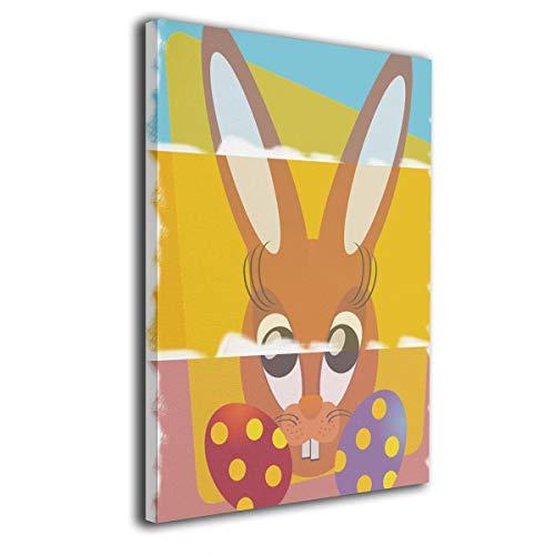 Little Monster Easter Bunny Framed Oil Paintings On Canvas Wall Decor Occident Style Art for Child Bedroom