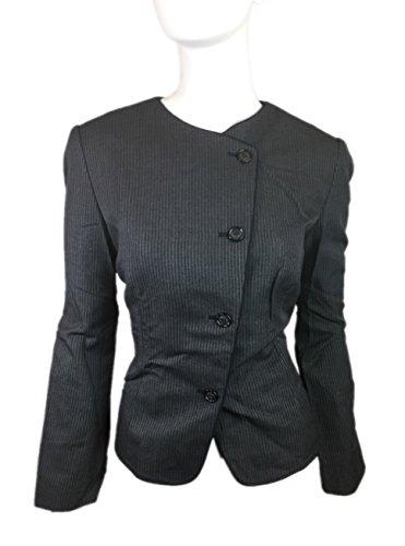 Womens Designer Business Suits (TopHat ImageWear Women's Designer Long Sleeve Work Formal Attire Stylish Jacket (Pinstripe Grey) Medium Size 10)