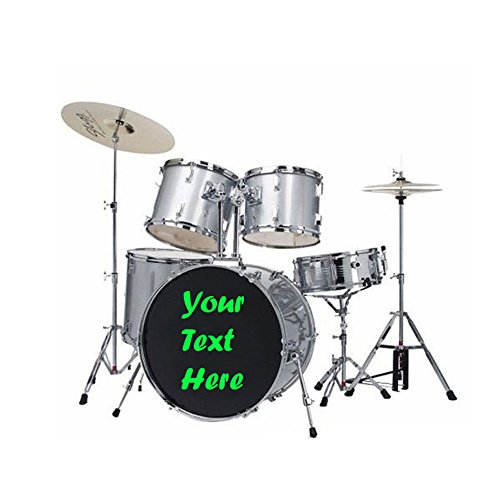 Custom Drum Head Personalized Vinyl Decals Stickers, 18 Inches
