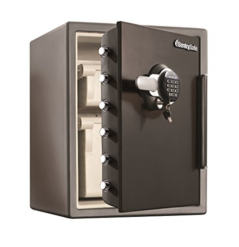 SentrySafe Fire Resistant and Water Resistant Safe, Advanced Protection for the Irreplaceable, 2.05 Cubic Feet, SFW205GQC