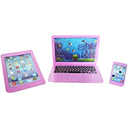 Brittany's My Lavender Laptop, Tablet, and Smart Phone Compatible with American Girl Dolls