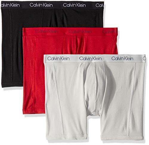 Calvin Klein Men's Underwear Breathable Cotton Mesh Boxer Briefs, Black/Scooter/High Rise, M Cotton Mesh Boxer Briefs