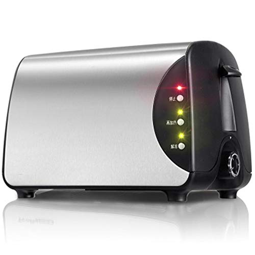 Compact Fast Breadmaker, Mini Toaster White Home Breakfast Toaster Toaster 2 Pieces of Household Automatic Stainless Steel Toaster, 220w Silver