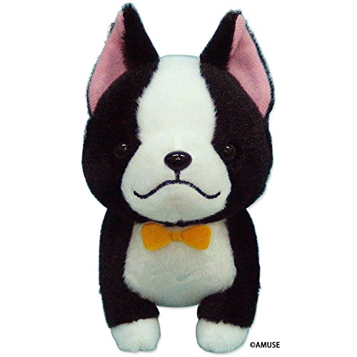 Amuse Mameshiba 3 Brothers Series Plush Dog Doll Black Boston Terrier 'Boss' Standard size (5