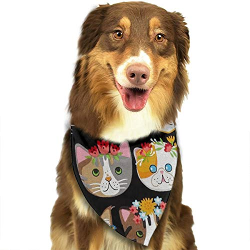 Whiskers & Tails Dressy Kitty CATS Bandana Triangle Bibs Scarfs Accessories For Pet Cats And Puppies -