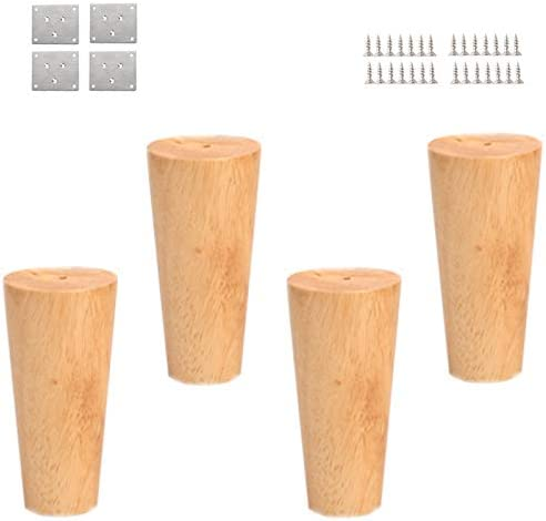 Hwj 10cm Furniture Legs 4 Sets Solid Wood Support Legs Suitable For Sofa Coffee Table Tv Cabinet Table Amazon De Kuche Haushalt