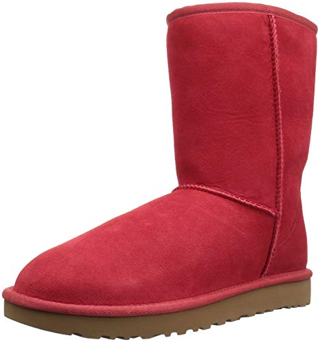 UGG Women's Classic Short II, Ribbon RED, 8 M US
