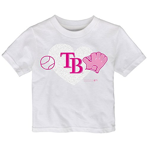 MLB Tampa Bay Rays Toddler Girls Love Baseball Tee, 4T, - Rays Clothing