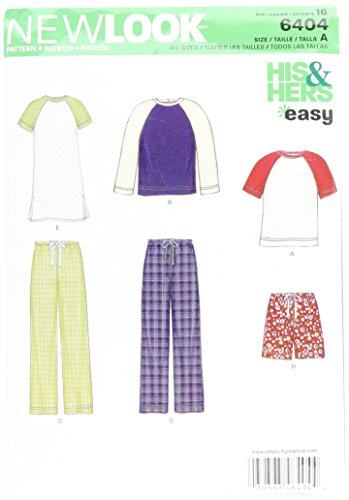 New Look Sewing Pattern UN6404A Autumn Collection Misses' & Men's Separates Sewing Patterns, A ()