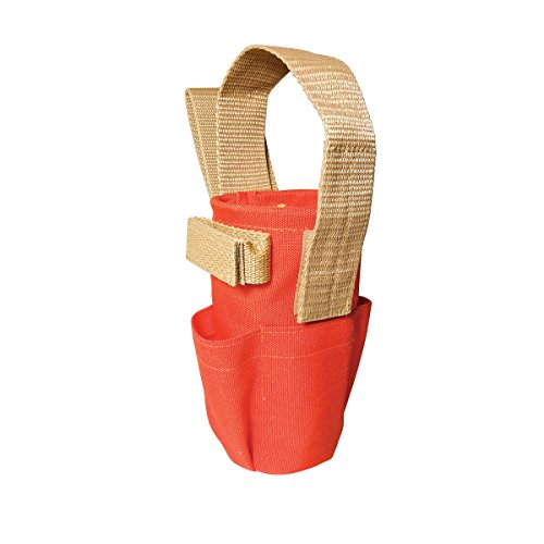 (SitePro 21-PC50P Paint Can Holder with Pockets and Belt Loop, Hi-Vis Orange)