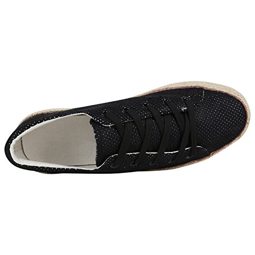 9f79e87d18b61c ... Stiefelparadies Damen Plateau Sneaker Prints Metallic Plateauschuhe 90s  Look Sneakers Stoffschuhe Schnürer Prints Blumen Lack Glitzer