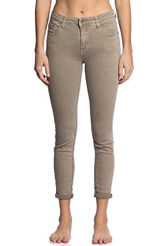 Venta Beige Transición Invierno Delicado Sensibilidad 3D con Encanto Mujer Fashion Dinámica Otoño Flexible Dulce Abbino 6109 Bolsillos Jeans Elegante 7 Colores Cómodo para Estilo Colección vSxqRg7