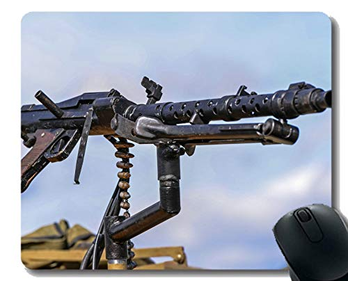 Anti-Slip Mouse Pad Mat,MG-34 Bullet Machine Gun Mousepad
