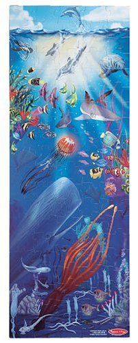 Melissa & Doug Under The Sea - 100 Piece Floor Puzzle (Sea Life Floor Puzzle)
