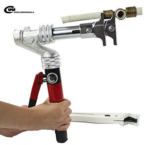 CGOLDENWALL SSD 1632AZアルミ製油圧式パイプエキスパンダーとパイプ継ぎ手接続工具 16-32mm 5t B0784SPM4Z