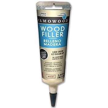 FamoWood 404026 Latex Wood Filler Adhesive Tube - 3.25 fl oz Natural