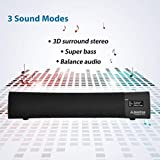 Avantree Torpedo Plus aptX Low Latency & DSP Superb Sound Bluetooth Speaker Mini Soundbar for TV, Laptop, Desktop PC & Computer, Multiple Sound Modes & No Audio Delay, Portable Wireless Sound Bar
