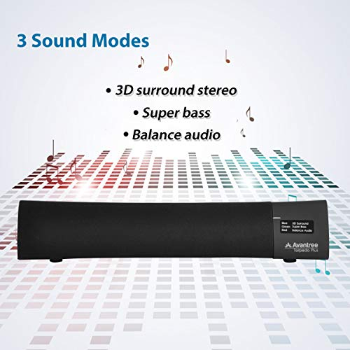 AptX Low Latency Portable Sound Bar, Laptop Speaker, DSP with Superb Sound  & Audio Clear Mode, Wireless Home Speaker for TV, PC, Cellphone, iPad etc