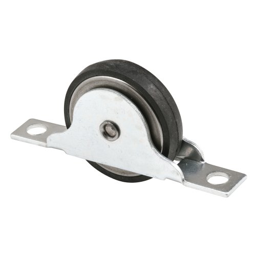 Prime-Line Products N 6688 Closet Door Roller with 1-3/8-Inch Flat Neoprene Ball Bearing Wheel,(Pack of 2) ()
