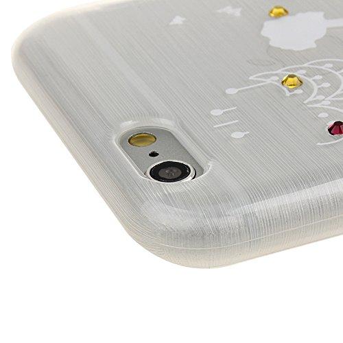Funda para iPhone 6 Plus / 6s Plus, funda de silicona transparente para iPhone 6 Plus / 6s Plus, iPhone 6 Plus / 6s Plus Case Cover Skin Shell Carcasa Funda, Ukayfe caso de la cubierta de la caja prot Gris