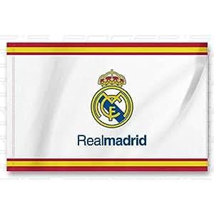 Bandera real madrid espa a 150x100 cm oficina for Oficinas amazon madrid