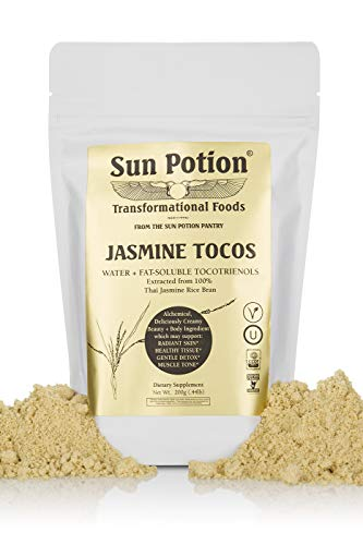 Jasmine TOCOS Powder 200g by Sun Potion - Organic Rice Bran Solubles - Tocotrienols Ultimate Superfood High in Vitamin E Promotes Healthy Skin Care Connective Tissue and Muscle - Raw, Pure, Non-GMO