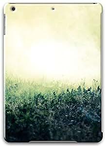 Foggy Grass Close-up Apple iPad Air Case, Apple iPad Air 3D Cases Hard Shell White Cover Skin Cases