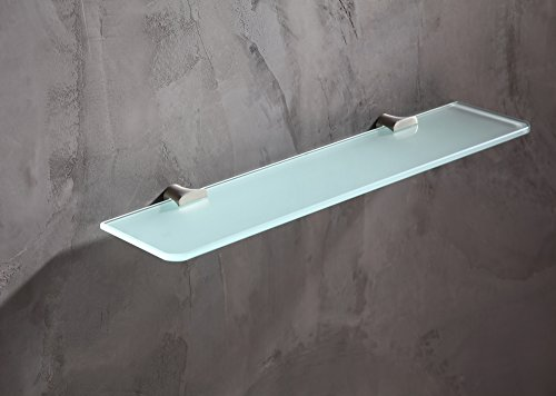19.69'' Glass Shelf - Brushed Nickel - Essence Series AC-AZ050BN - ANZZI by ANZZI (Image #1)