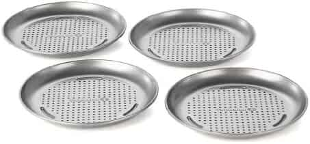 Calphalon Nonstick Bakeware, Mini Pizza Pan, 7-inch, Set of 4