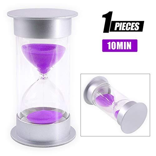 Swpeet Purple Sand Timer Hourglass Sandglass Timer Sand Clock Timer for Kids Games Classroom Birthday Gift Classroom Kitchen Home Office Kitchen Decoration (10 minutes)