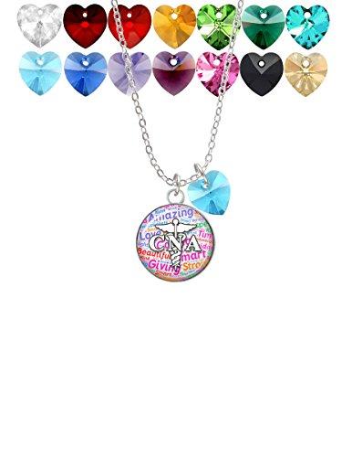 CNA Heart Necklace (Silver) - 3