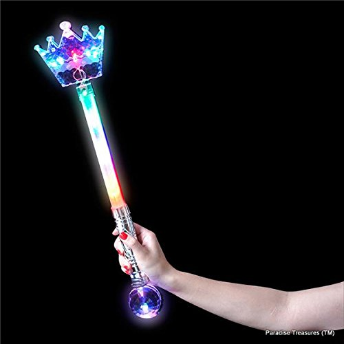 Paradise treasures tm 20 5 light up crown magic wand for Light up wand