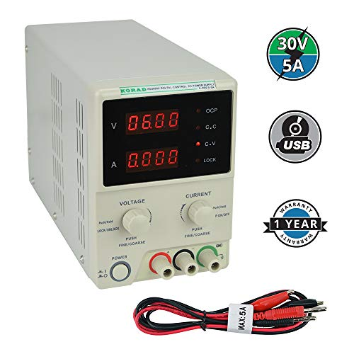 KORAD KD3005P - Programmable Precision Variable Adjustable 30V, 5A DC Linear Power Supply ()