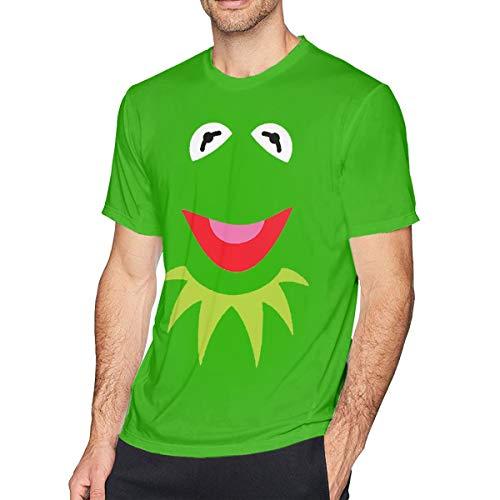 Genwo900jiusi Mans Green Puppet Frog Face Halloween Comfortable T Shirts 6XL ()